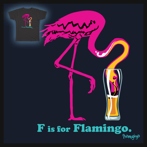 F is for Flamingo!