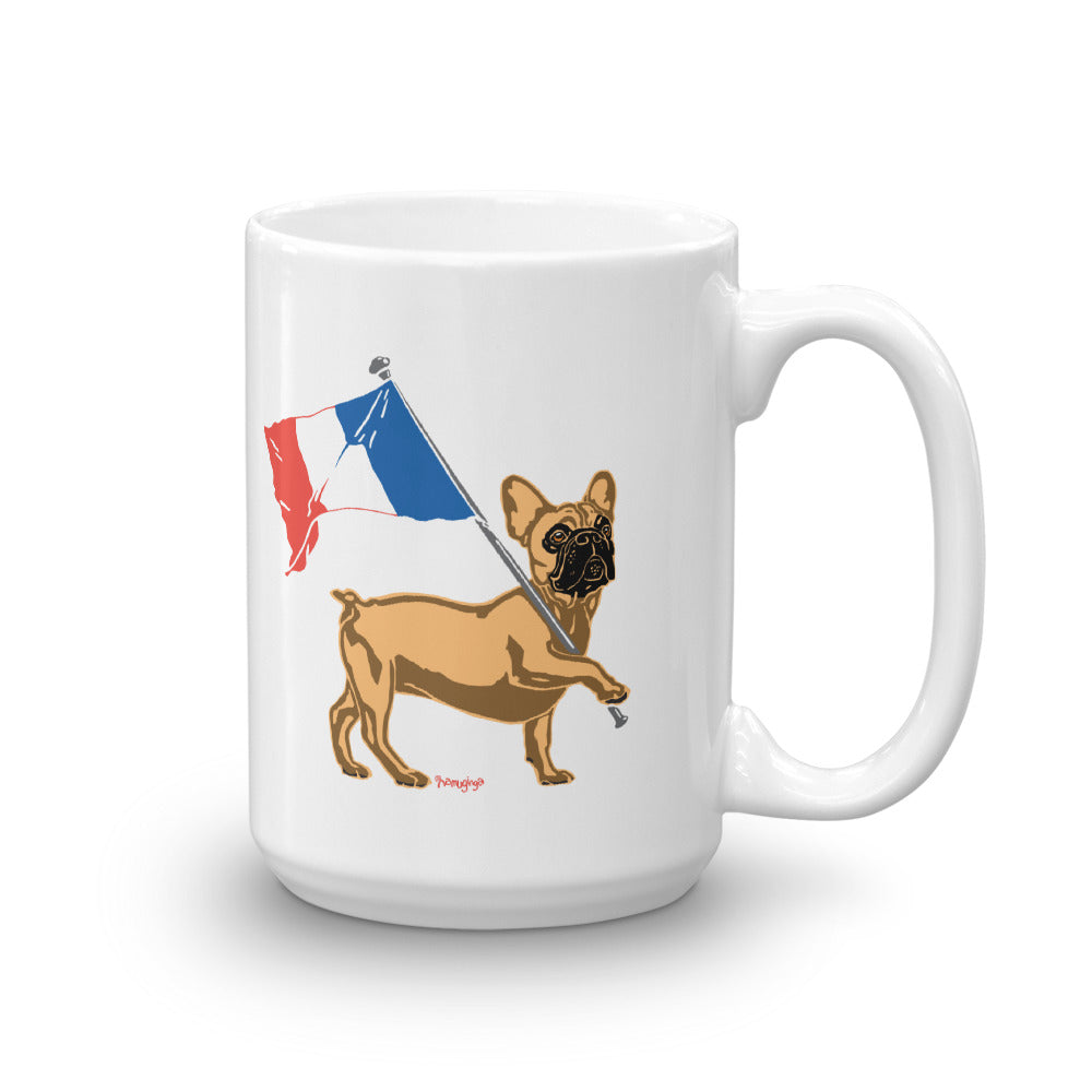 Vive la Frenchie! - 15oz. Coffee / Tea Mug