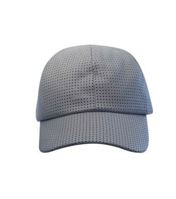 Gray Mesh Leather Snapback Cap