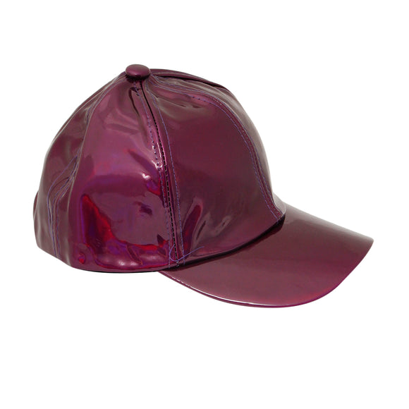 Shiny Purple Iridescent Cap