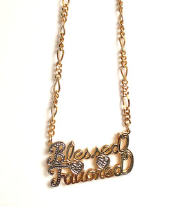 Blessed and Favored Double-Plated Gold Necklace