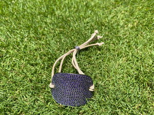 Silver Pave Purple Spinal Cuff
