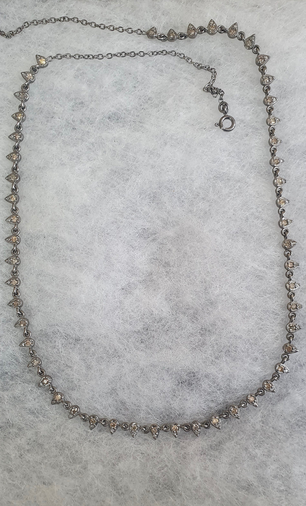 Silver Diamond Chain Necklace Pendent
