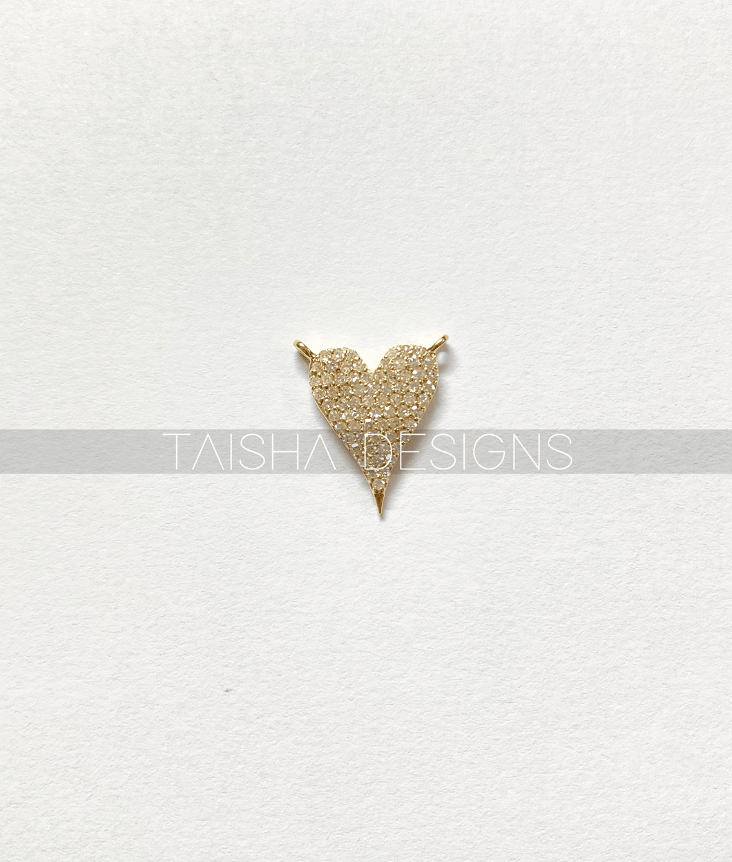 14kt Yellow Gold Diamond Heart Pendent