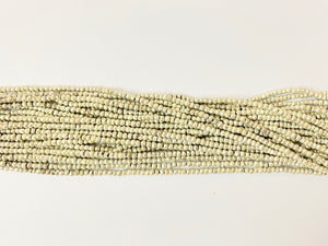 Silver Pyrite Beads Strings 3MM to 3.5MM