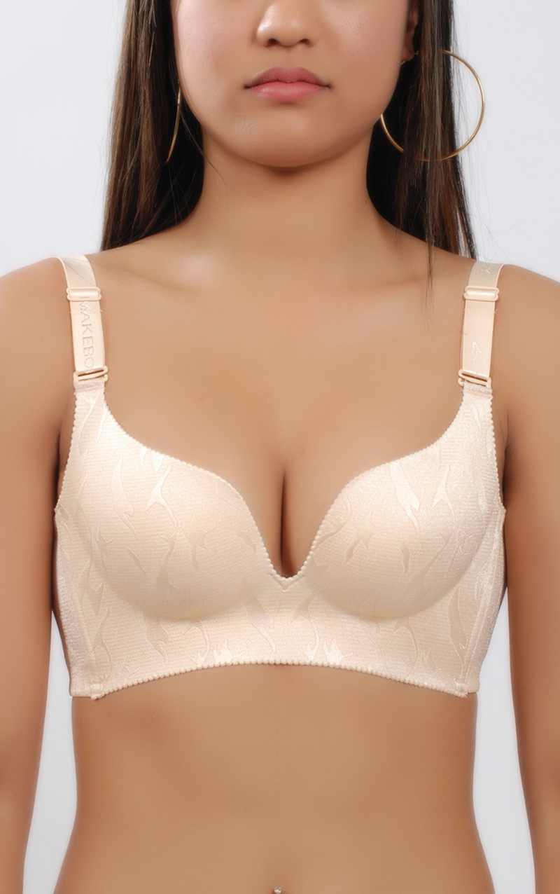 Wireless Minimal Heart-Style Push-Up Bra #10002