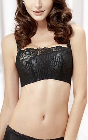 Wireless Tank Style Bra for Women - Seamless Lace Padded Underwire (Cup Sizes D-G) #11245