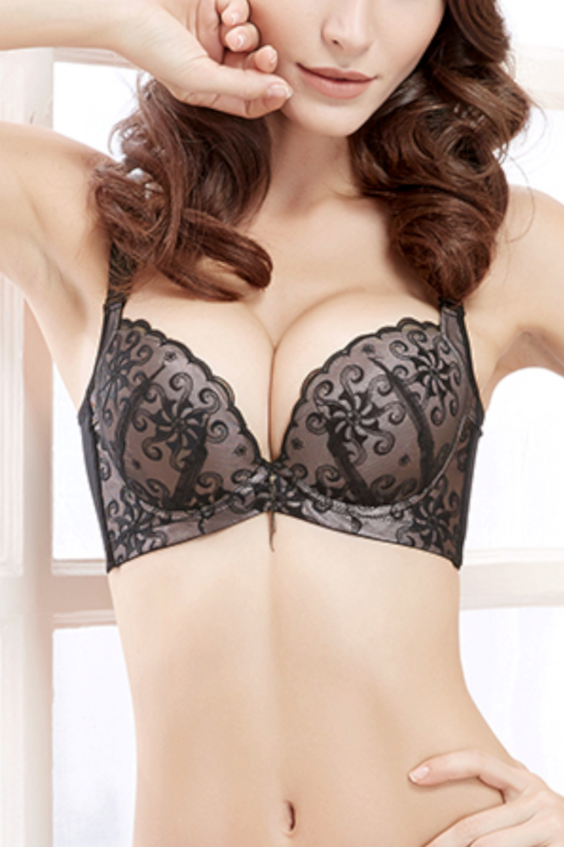 Push Up Bra for Women - Sheer Seduction Wireless Full Cup Underwire #11315
