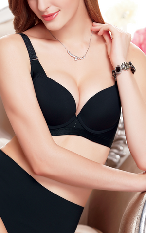 Women's Push Up Bra with Classic Full Cup Curve V Shape Underwire #11383