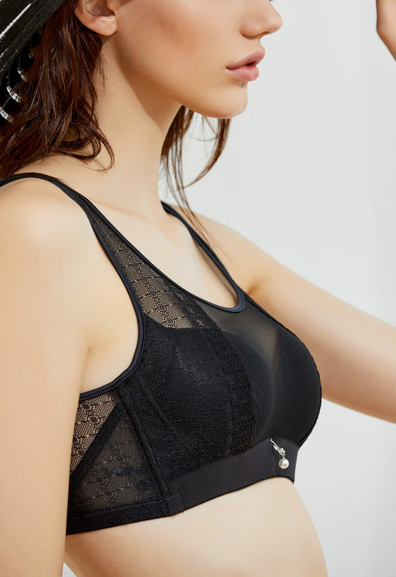 Modest Lace Push Up Bra #11074
