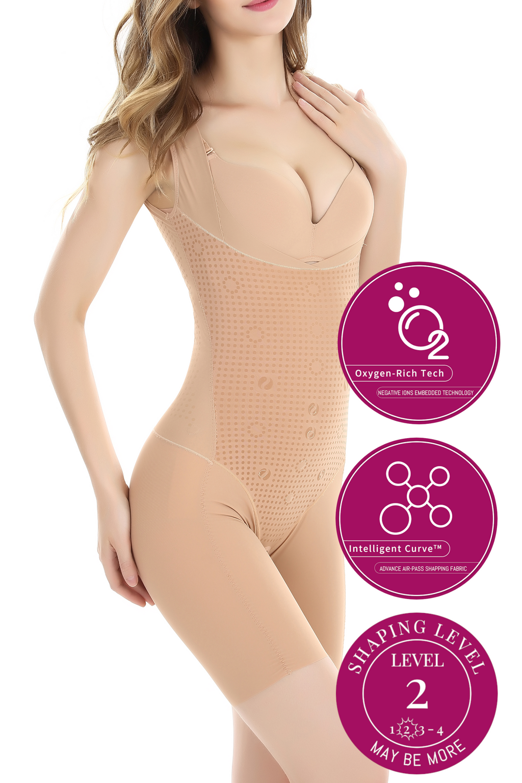 Tummy Control Shapewear for Women Made with Negative Ion Technology Fabric #21609
