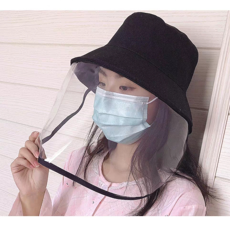 Protection Bucket Cap Hat With Face Shield Cover #80025