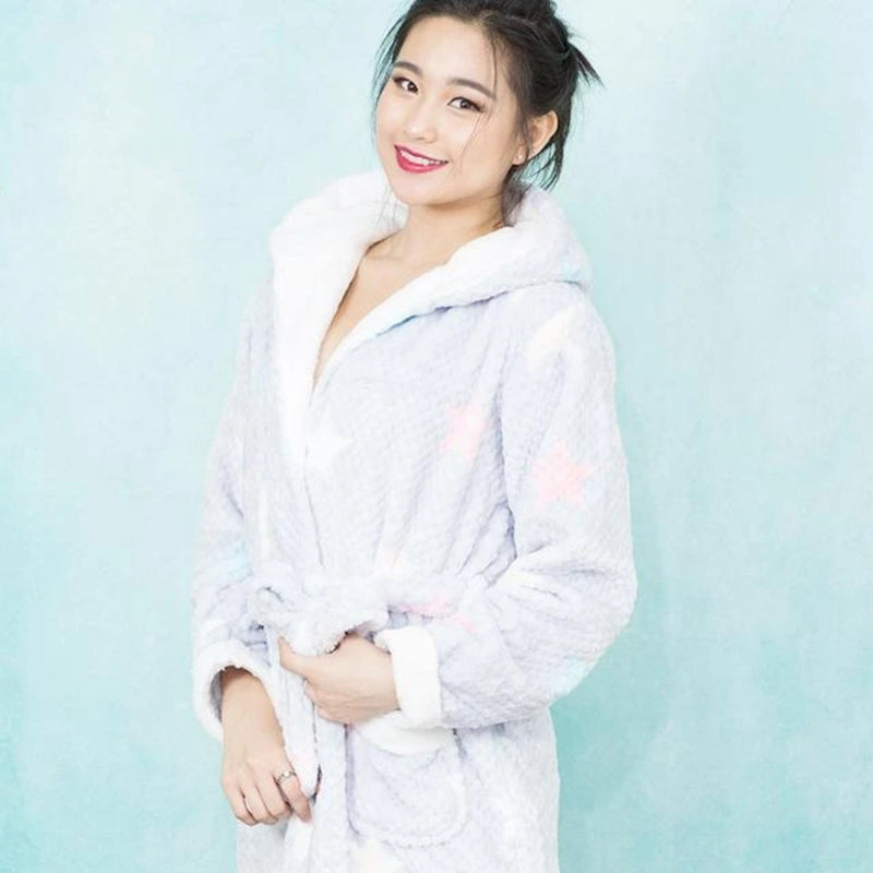 Waffle Design Plush Robe Pajamas | Perfect Look