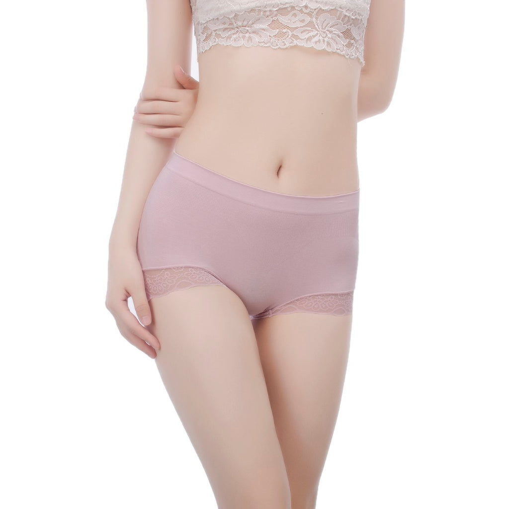 Panties for Women with Lace Bottom AirTouch Series Seamless Cut #50058