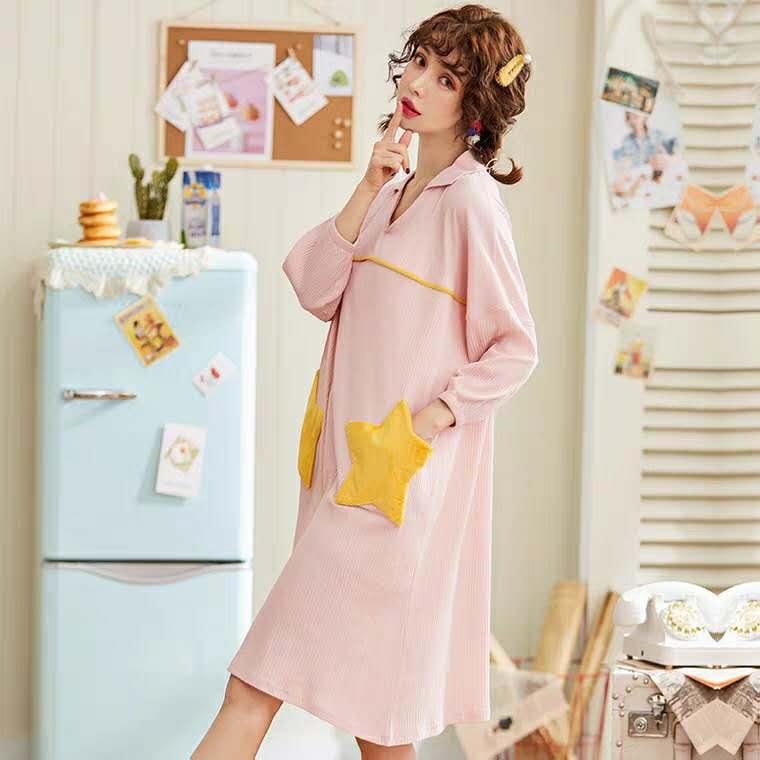 Starry V-Neck Sleepshirt #5590