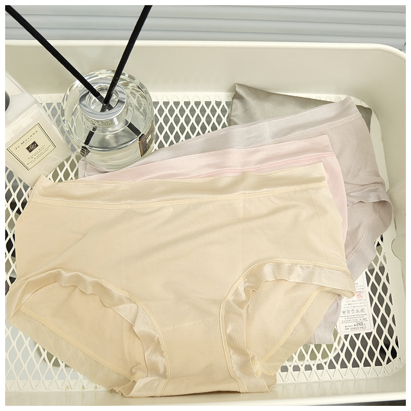 Classic Seamless Silk Cotton Panties for Women #342
