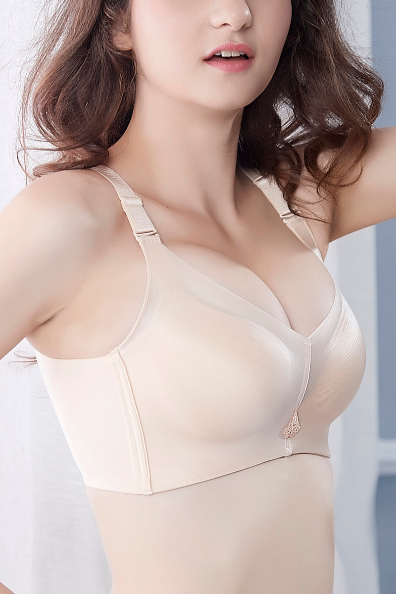 Seamless Push Up Bras for Women Wirefree Molded Tshirt Easy Comfort Bra for A Cup #11066