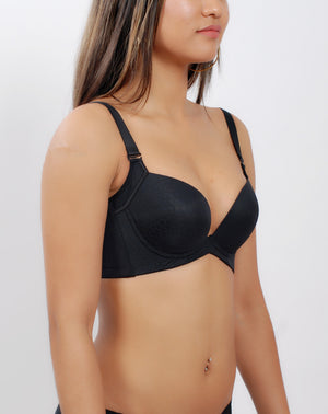 Bra For Women - Classic Heart Shape Cup Push Up Bra #11323