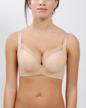 Bra for Women - Comfortable Minimalist Padded Support Push Up Bra #11327