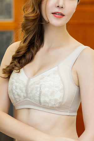 Push Up V-Neck Wireless Bra for Women with Seamless Fit & Sexy Look #19025