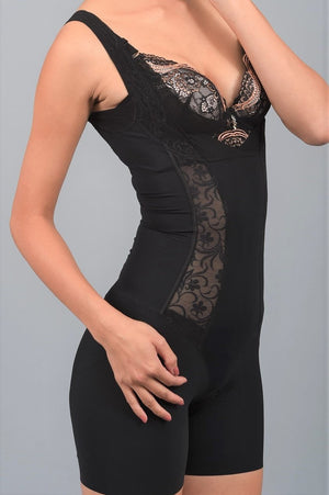 Sleeveless Lacy Intelligent Curve™ Full Body Shaper #21025
