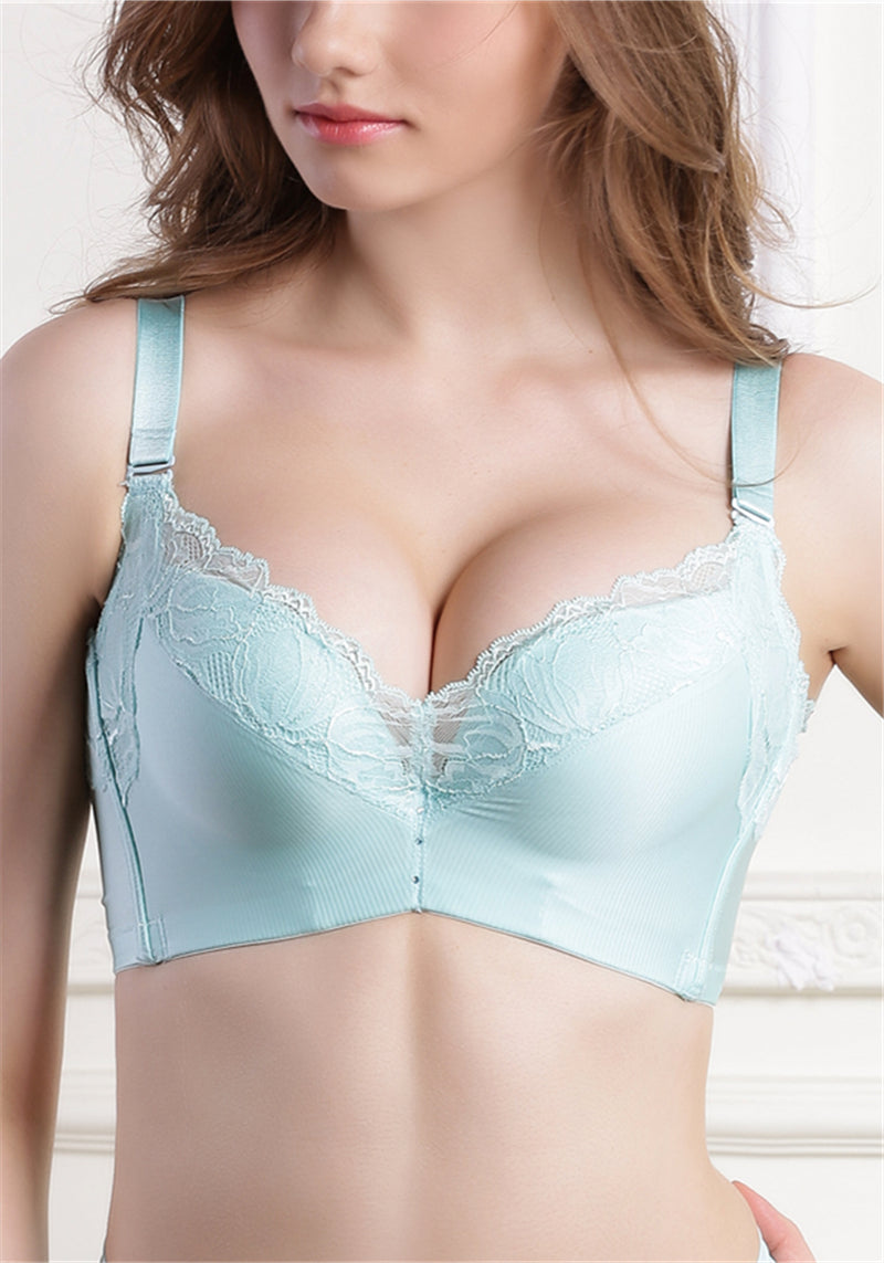Soft Lace Wireless Push-Up Bra #11523