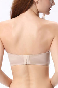 A to C Cup Wirefree Strapless Bra for Women - Seamless Sexy Lingerie Padded and Lift Bra #11732