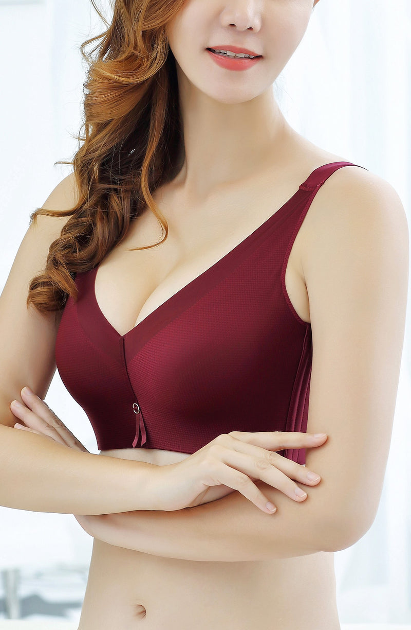 Seamlessly Fantastic Lace Push Up Bra for Women - Wide Breathable Sidebands Bra #11653