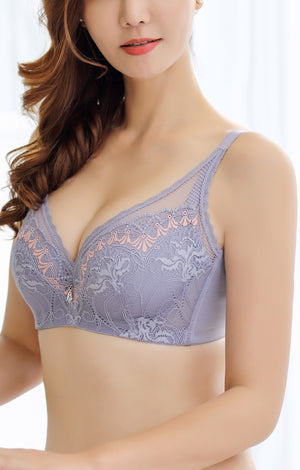Lace Push Up Bralette – Full Coverage Bra for Women - Comes with A Soft Underwire and Support - Ideal Size 32C-40DD #11832