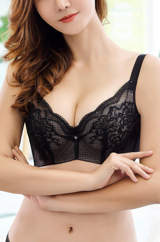 Elegant Laced Molded Push Up Bra #11772