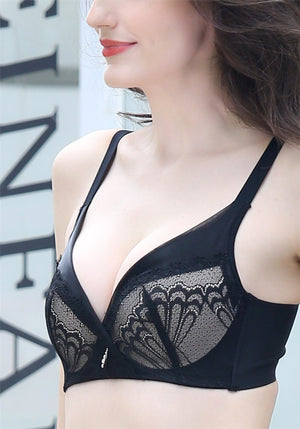 Lace Bra for Women - Europe Style Wireless Push Up No Underwire #16359