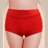 Cotton Panties for Women - Floral Lace Panty with Polka Dot Print #W8105