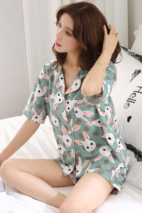 Cute Rabbit Pattern Pajamas #2036