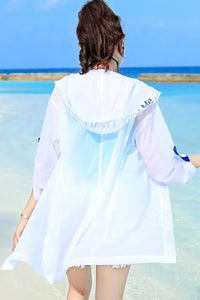 Cute UV/Sun Protection Button Down Hooded Transparent Jacket #19103
