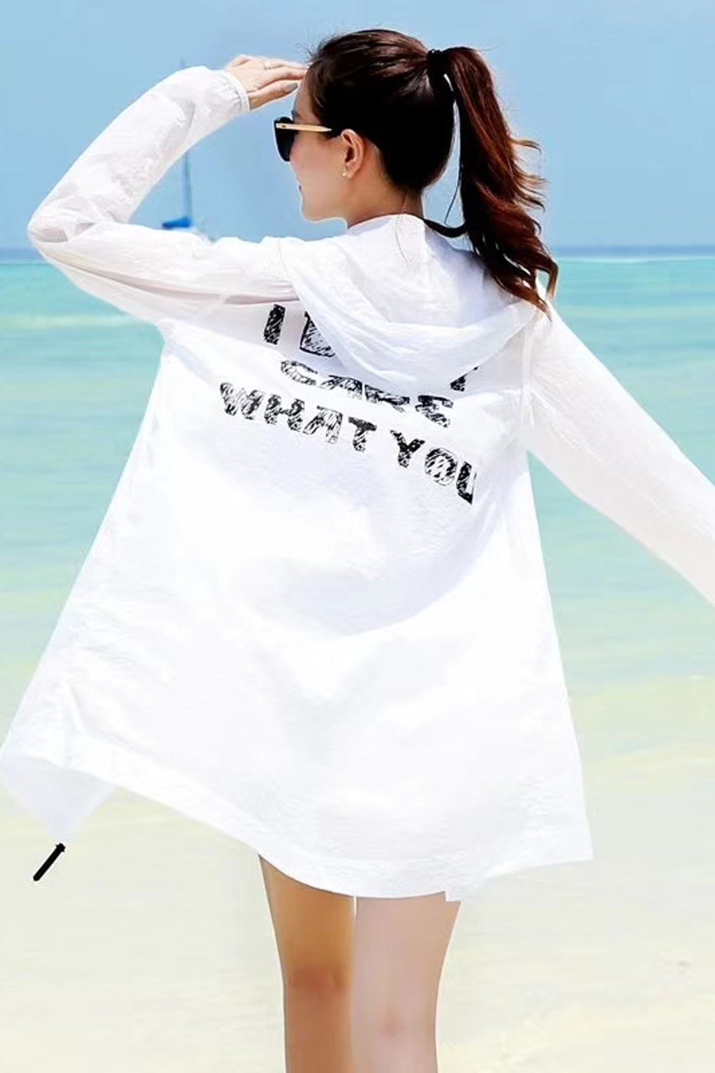 Girly UV/Sun Protection Hoodie Zip Jacket #19102
