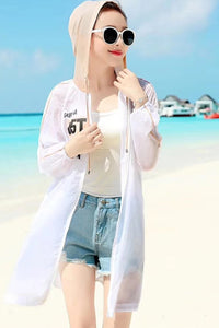 Breathable UV/Sun Protection Hoodie Zip Thin Jacket #19106