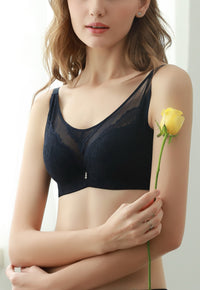 Push Up Bra for Women with Sexy Lace Passion Design - Embroidered Comfy Lingerie #A1226