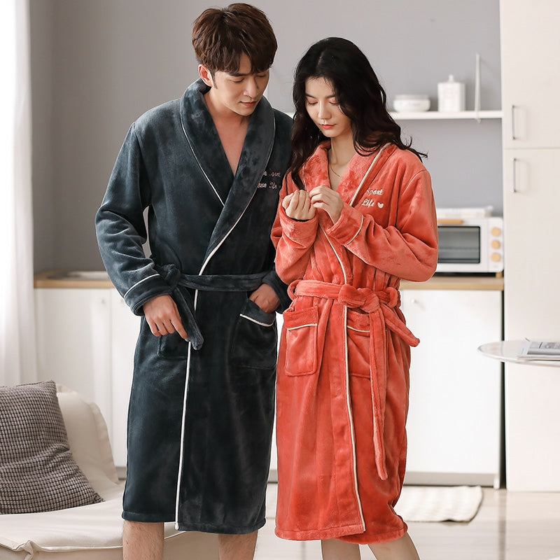 Long Robe Nightgown - Soft Fleece Plush Robe Pajamas #724545