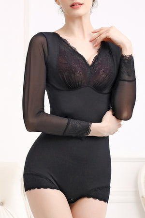 Intelligent Curve™ L2 Lace Sleeve Romper Shaper #21037