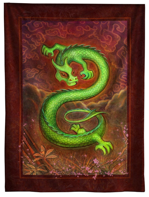 Green Dragon Tapestry 7 ft.