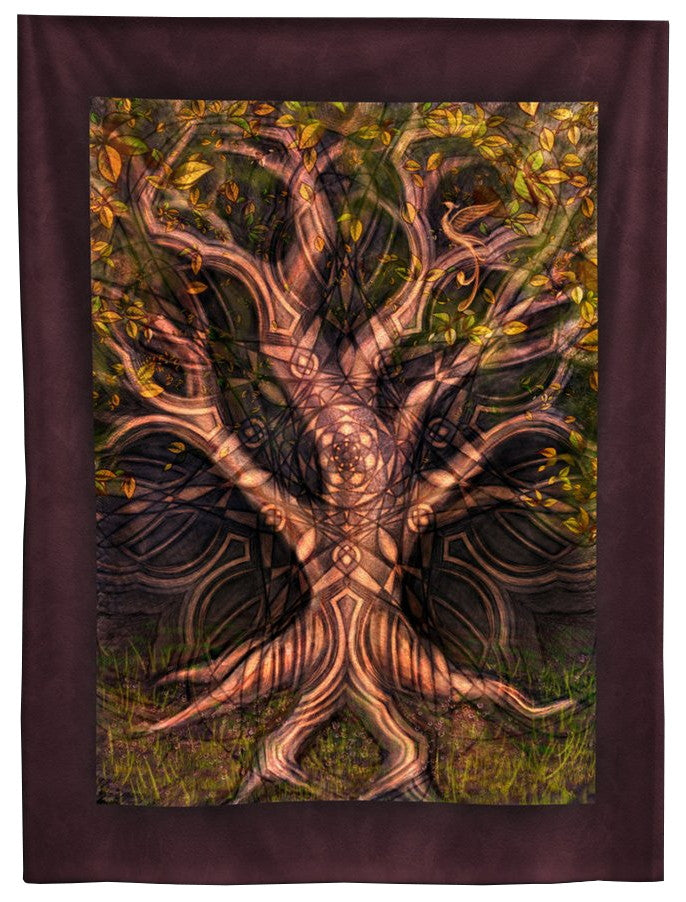 Kaleidoscopic Tree Tapestry 7 ft.