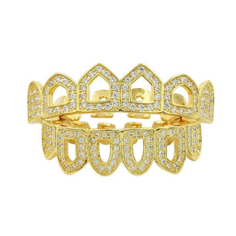 18K Open Faced ICED - Boss Grillz