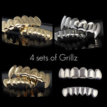4 sets of Grillz (G,GF,W,WF)