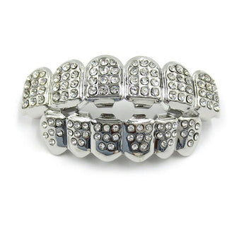 18K White Gold ICED OUT Grillz