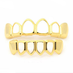 18K GP Open face grillz