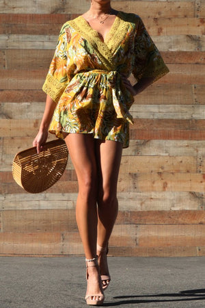 Printed Woven Romper