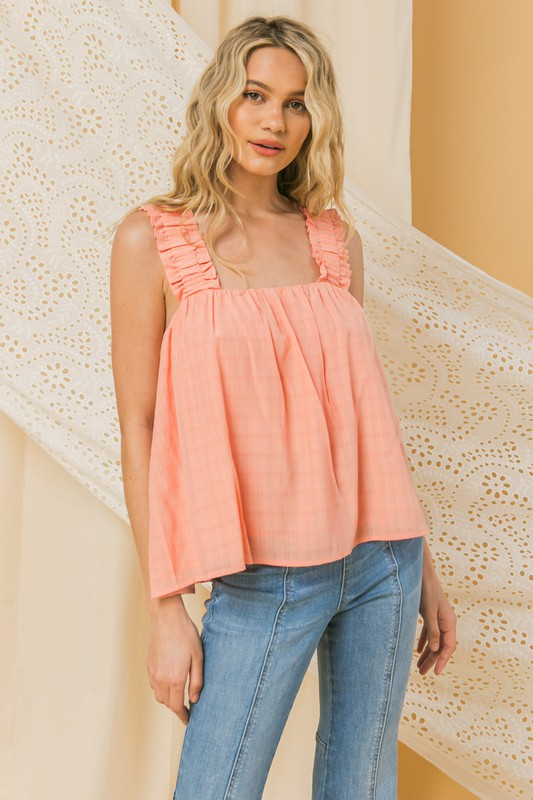 Casual Wide Strap Top