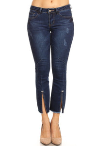 Mid Rise Cropped Denim