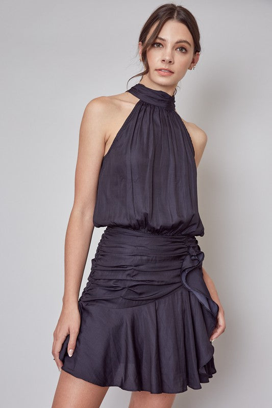 Sleeveless Mock Ruched Dress
