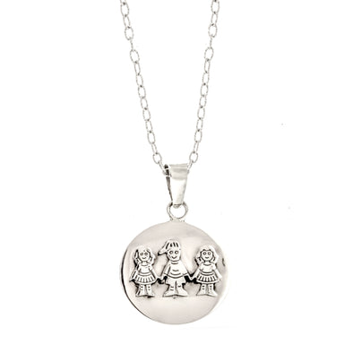 Round Children Family Necklace